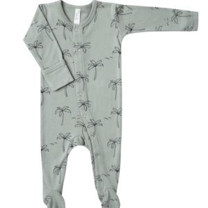 Other - Rylee and Cru brand new footed romper palm print